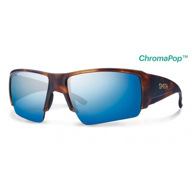 Smith Optics - Captain's Choice Matte Havana ChromaPop+  Polarized Blue Mirror