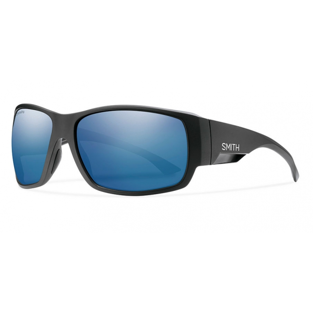 Smith Optics - Dockside Matte Black ChromaPop Polarized Blue Mirror