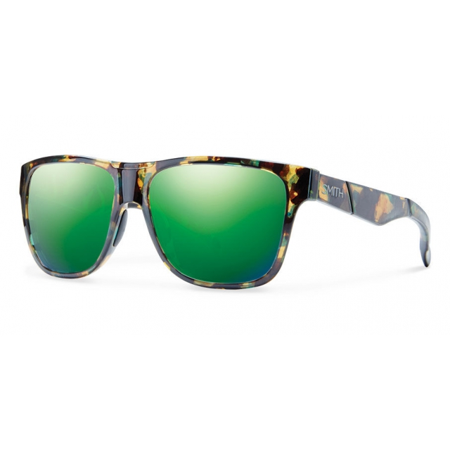 Smith Optics - Lowdown Flecked Green Tortoise Green Sol-X Mirror