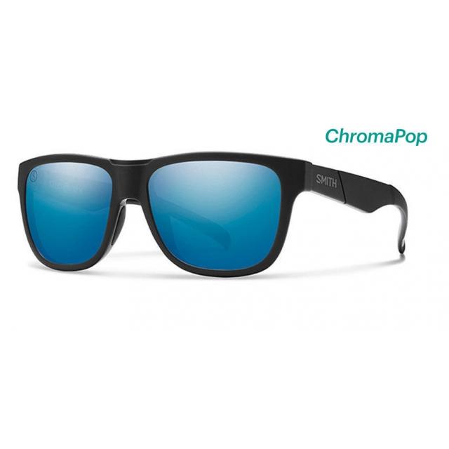 Smith Optics - Lowdown Slim Matte Black - Salty Crew ChromaPop Polarized Blue Mirror
