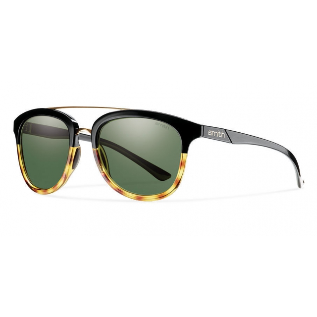 Smith Optics - Clayton Black Fade Tortoise Polarized Gray Green