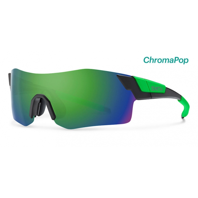 Smith Optics - PivLock Arena Matte Black Reactor ChromaPop Sun Green Mirror
