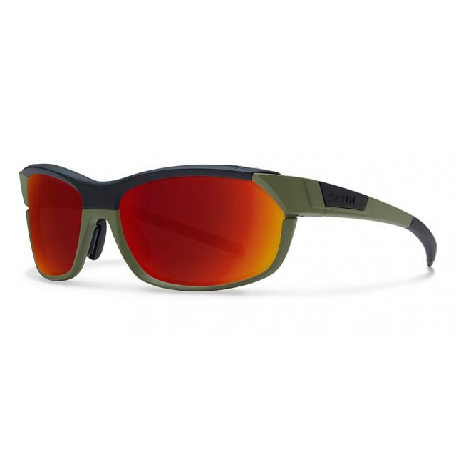 Smith Optics - PivLock Overdrive Matte Olive Black Red Sol-X Mirror