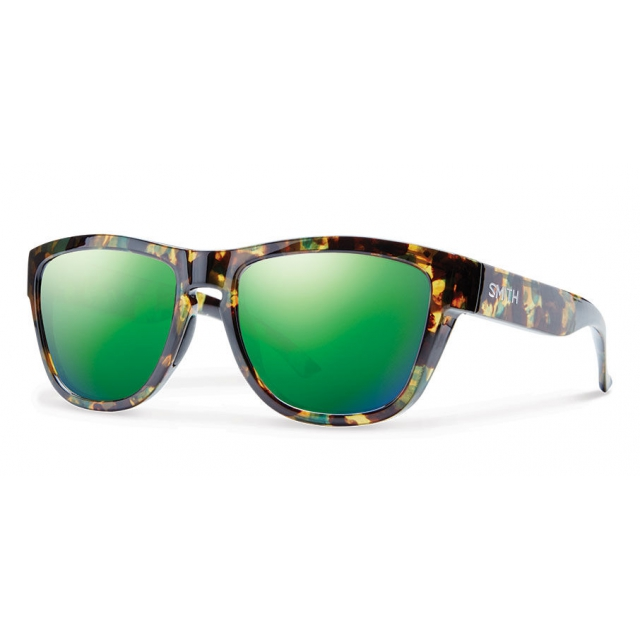 Smith Optics - Clark Flecked Green Tortoise Green Sol-X Mirror