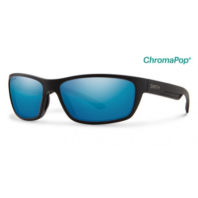 Smith Optics - Ridgewell Matte Black ChromaPop+  Polarized Blue Mirror
