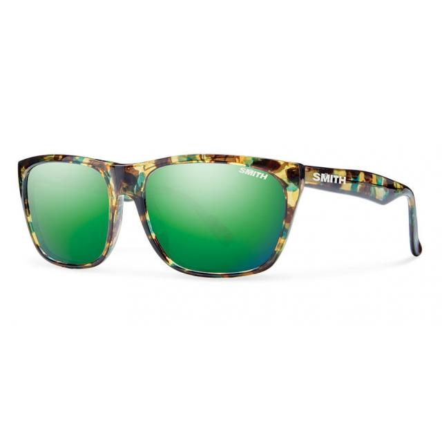 Smith Optics - Tioga Flecked Green Tortoise Green Sol-X Mirror
