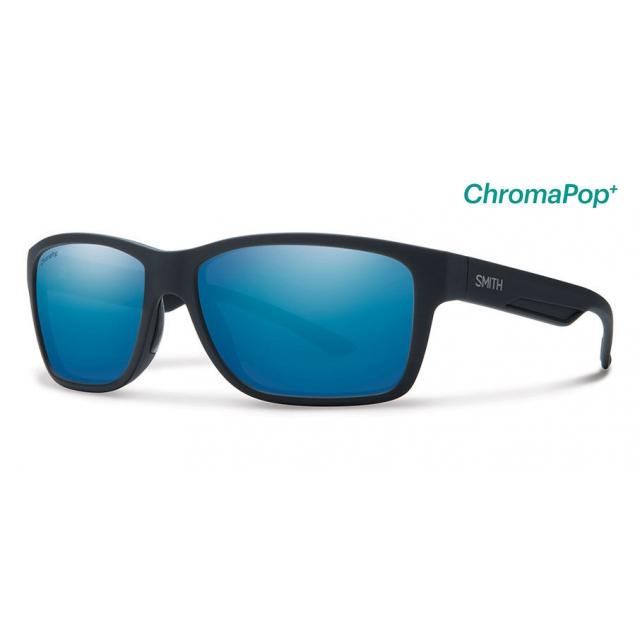 Smith Optics - Wolcott Matte Black ChromaPop+  Polarized Blue Mirror