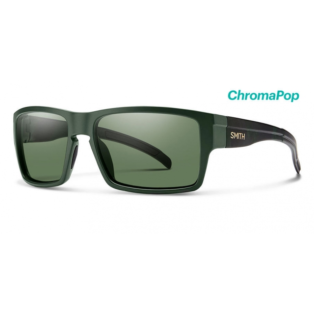 76a1c31867b Smith Optics. Outlier XL Matte Olive Camo ChromaPop Polarized Gray Green