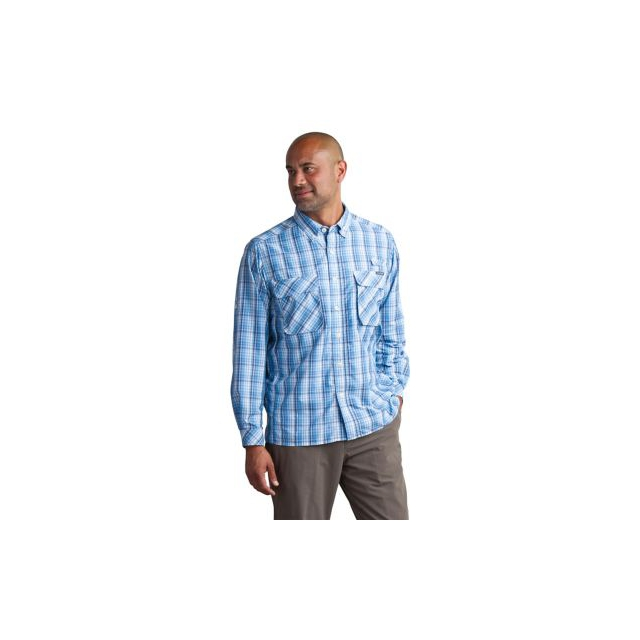ExOfficio - Men's Air Strip Macro Plaid Long Sleeve Shirt