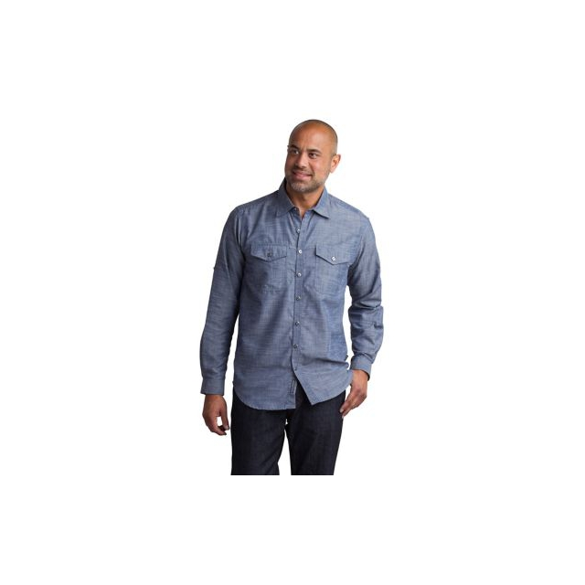 f3ec2204a44 ExOfficio   Men s Sol Cool Chambray Long Sleeve Shirt