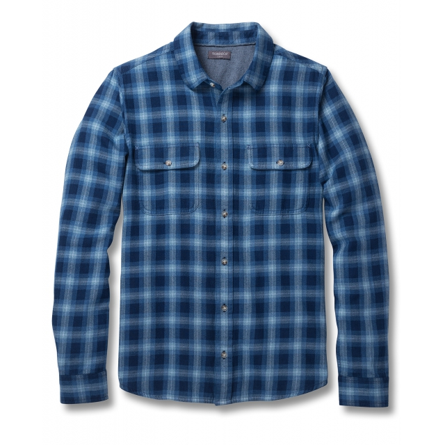 Toad&Co - Men's Indigo Flannel Slim LS Shirt in Sioux Falls SD