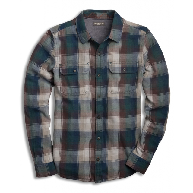 Toad&Co - Men's Indigo Flannel LS Shirt Slim in Sioux Falls SD