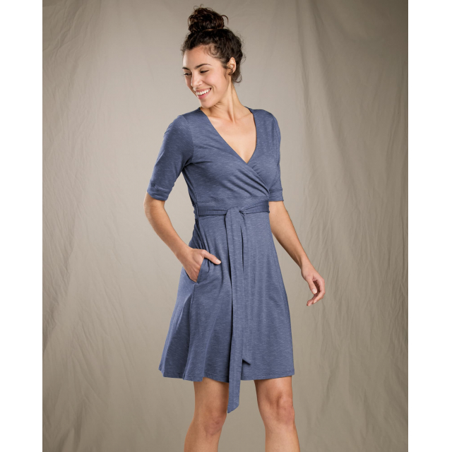 Toad&Co - Women's Cue Wrap Cafe Dress