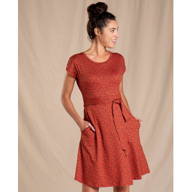 Toad&Co - Women's Cue Wrap SS Dress in Sioux Falls SD