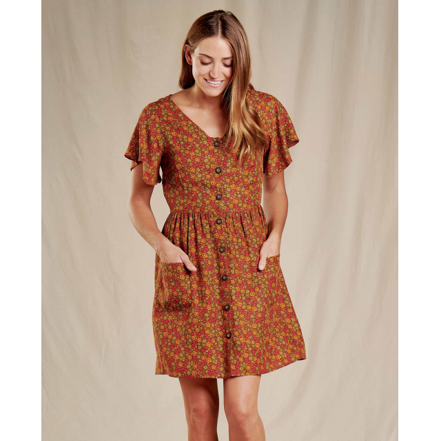 Toad&Co - Hillrose Button-Up SS Dress in Sioux Falls SD