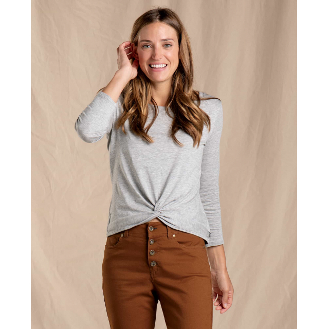Toad&Co - Women's Maisey 3/4 Sleeve Twist Top in Sioux Falls SD
