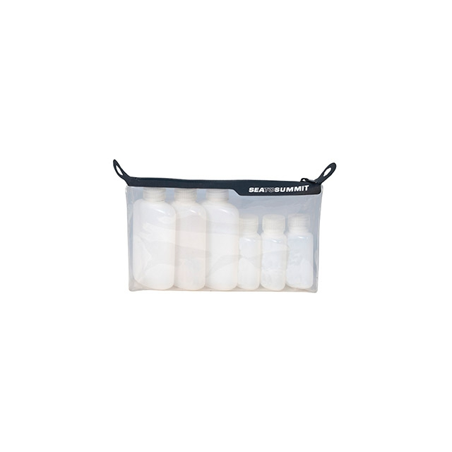 Sea to Summit - Travelling Light TPU Clear Zip Pouch with 6 Bottles TSA Carry on Size