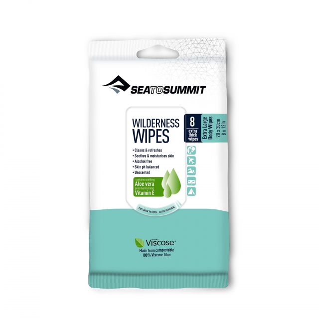 Sea to Summit - Trek and Travel Wilderness Bath Wipes - XL - 8 per pack in Sioux Falls SD