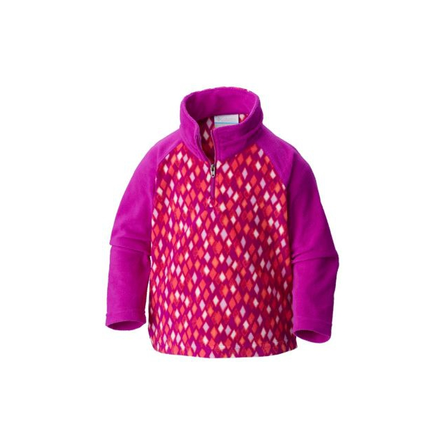 Columbia - Girl's Glacial II Fleece Print Half Zip - Toddler