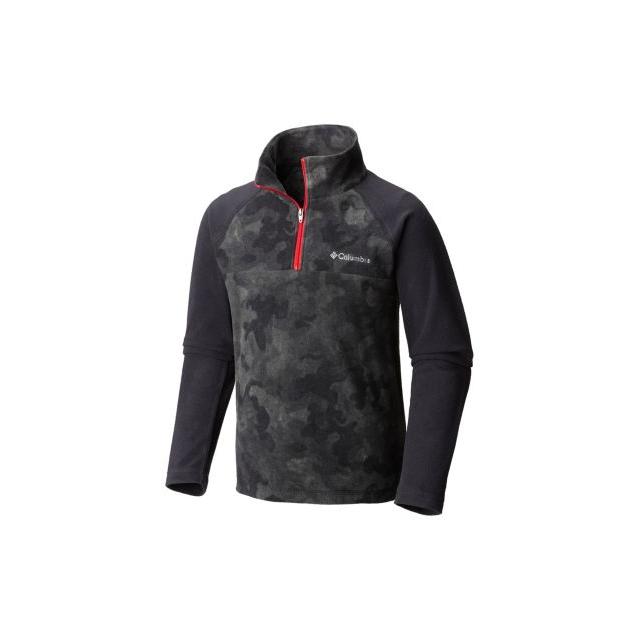 Columbia - Boy's Glacial II Print Half Zip Fleece Pullover