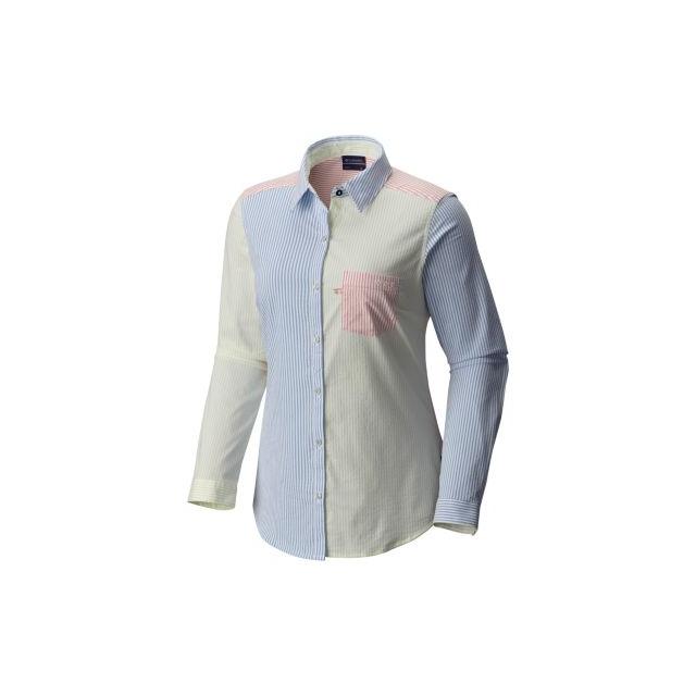 5aa6b3c7a3a Columbia   Women s Super Harborside Tri Color Ls Shirt
