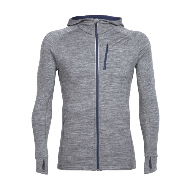 Icebreaker - Mens Quantum Long Sleeve Zip Hood