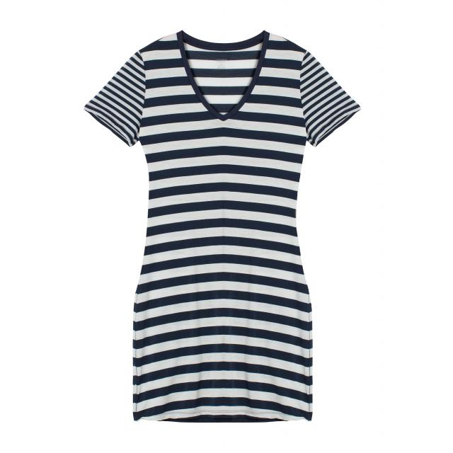 Icebreaker - Women's Tech Lite SS V Dress Stripe