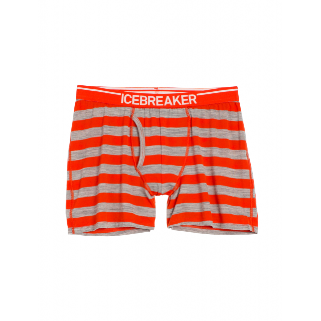 Icebreaker - Men's Anatomica Boxers w Fly Stripe