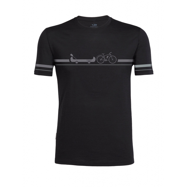 Icebreaker - Mens Tech Lite Short Sleeve Crewe Road to River