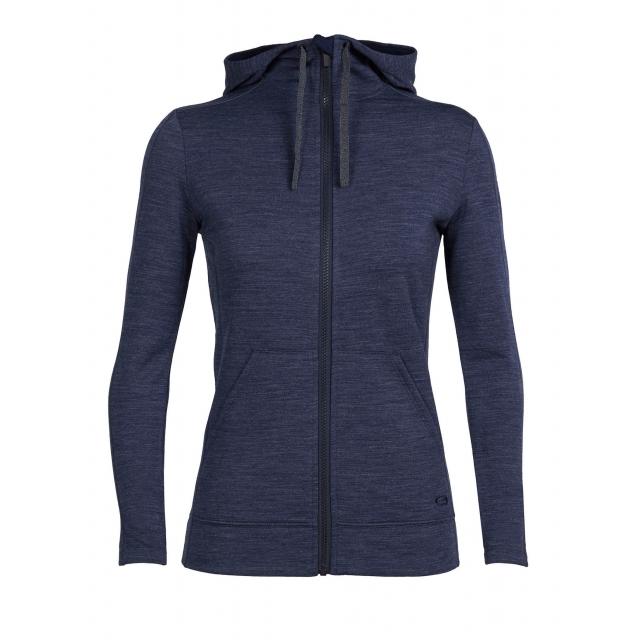 Icebreaker - Womens Dia Long Sleeve Zip Hood