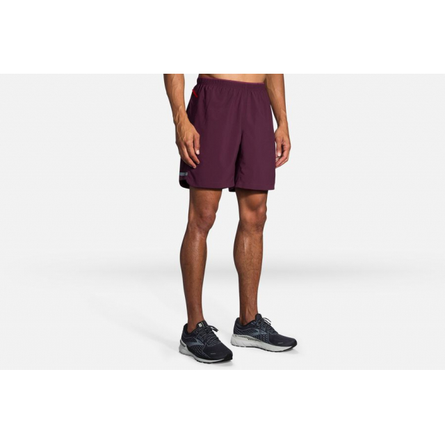 "Brooks Running - Men's Sherpa 7"" 2-in-1 Short in Chelan WA"