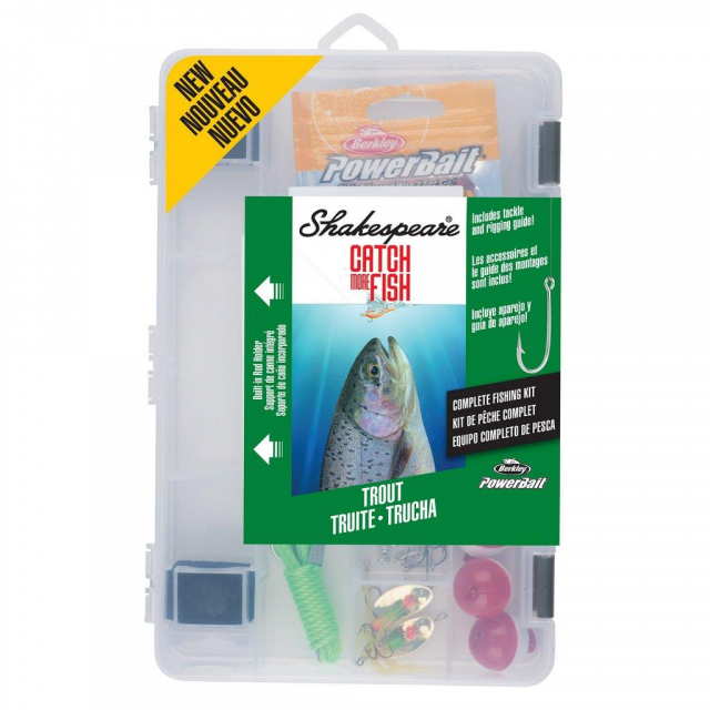 Shakespeare - Catch More Fish Trout Kit   Model #TROUT2TBKIT