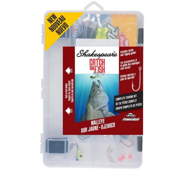 Shakespeare - Catch More Fish Walleye Kit   Model #WALLEYE2TBKIT