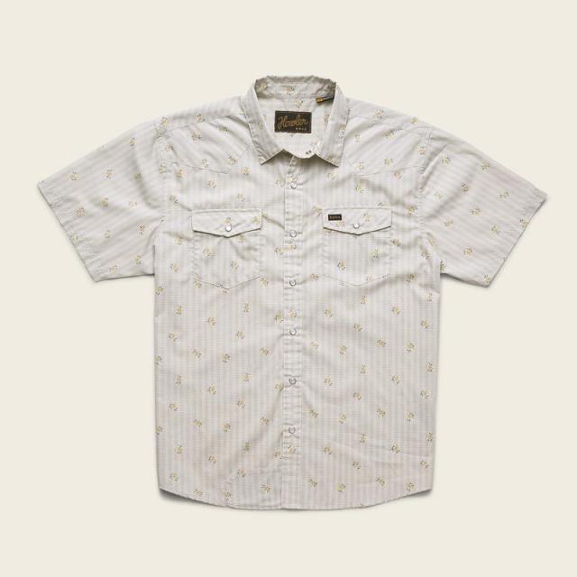 Men's H Bar B Snapshirt – Vintage Grid Floral