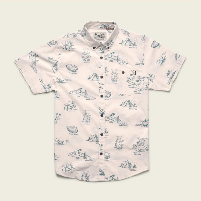 Howler Brothers - Men's Mansfield Shirt - Gulf Destinations Print