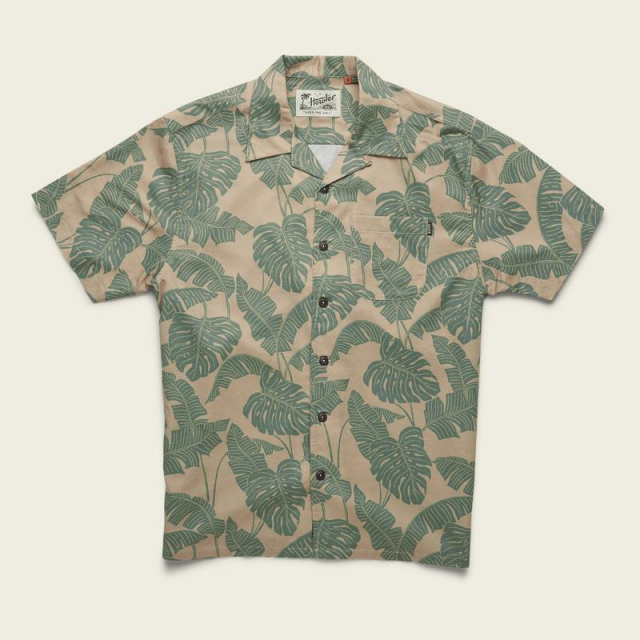 Howler Brothers - Men's Monoloha Shirt - Monstera Print in Blacksburg VA