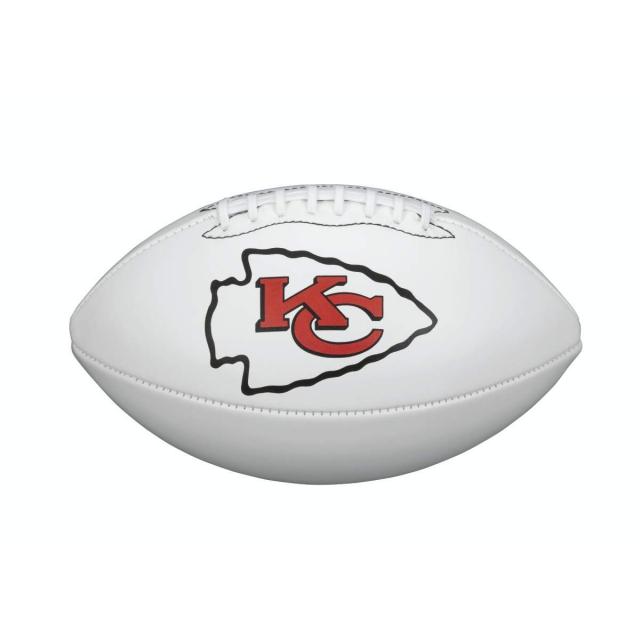 Wilson Nfl Team Logo Autograph Football Official Kansas City