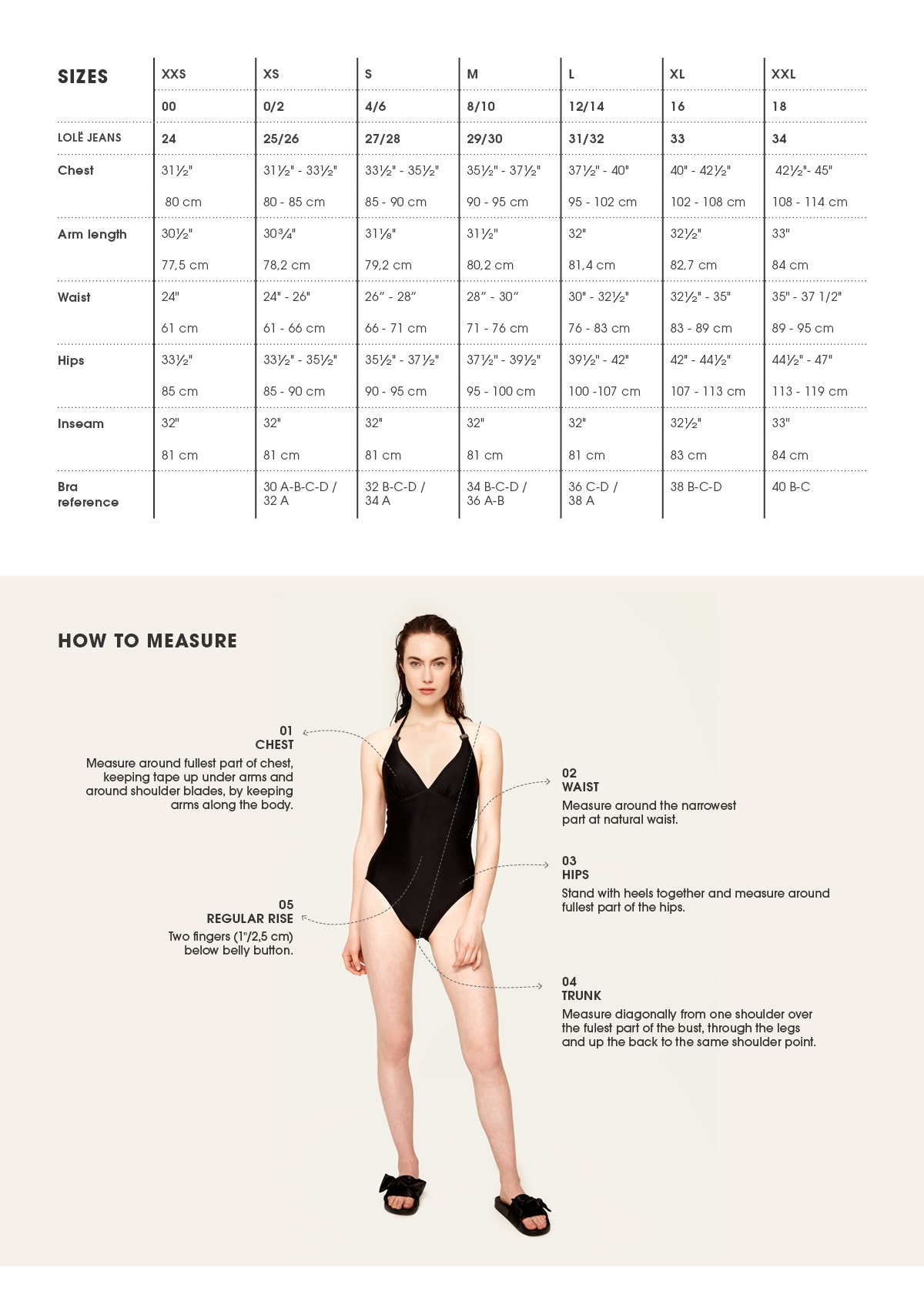 Size guide lol