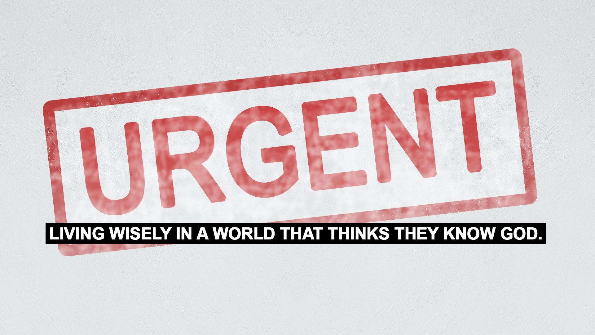Series: URGENT: Rebuke