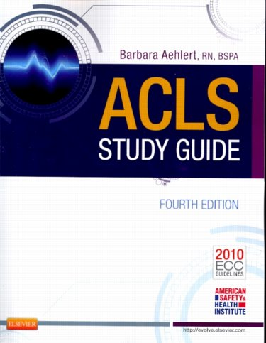 ACLS Study Guide. Text with ACLS Quick Reference Card Cover Image