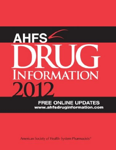 American Hospital Formulary Service (AHFS) Drug Information 2012 Cover Image