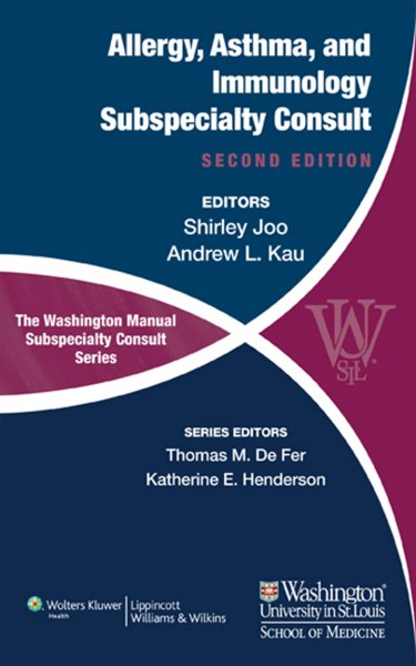 Washington Manual Allergy, Asthma, and Immunolgy Subspecialty Consult Cover Image