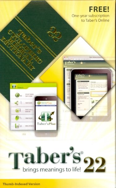 Tabers Cyclopedic Medical Dictionary. Non-Thumb Indexed. Text with 2 Access Codes Cover Image