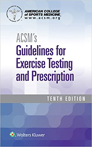 ACSMs Guidelines  paperback and Certification Review  Package Cover Image