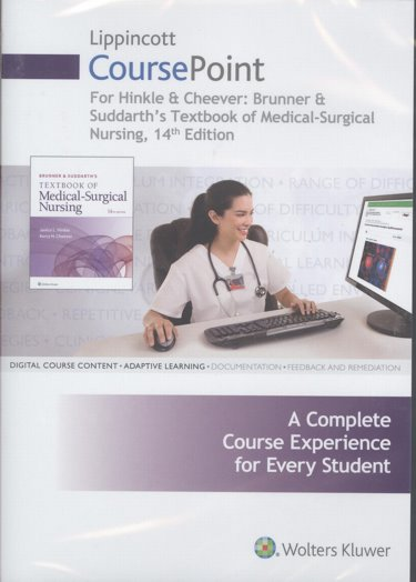 CoursePoint for Hinkle & Cheever: Brunner & Suddarths Textbook of Medical-Surgical Nursing. Access Code for 24 Month Access Cover Image
