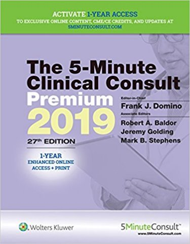 Five Minute Clinical Consult Premium. Text with 1-Yr Access Code Cover Image