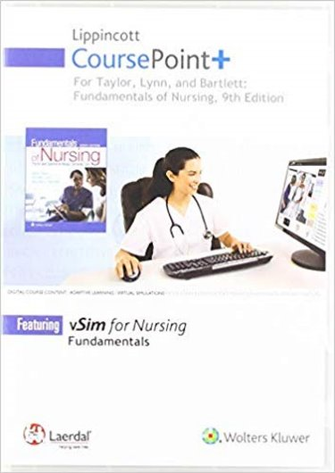 Lippincott CoursePoint+ for Taylor, Lynn, and Bartlett: Fundamentals of Nursing Cover Image