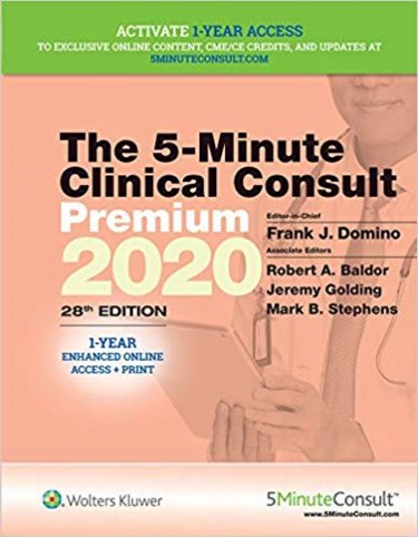 Five Minute Clinical Consult Premium. Text with Access Code, 1 Year Access Cover Image