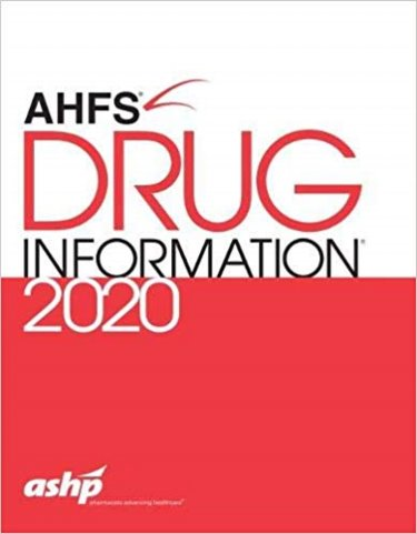 American Hospital Formulary Service (AHFS) Drug Information 2020 Cover Image