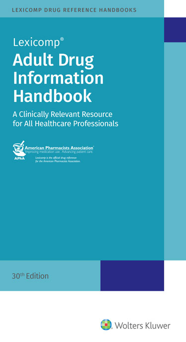 Adult Drug Information Handbook: A Clinically Relevant Resource for All Healthcare Professionals 2021-2022 Cover Image
